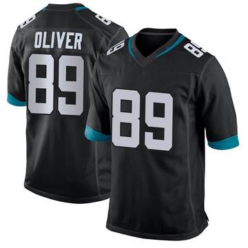 Men's Josh Oliver Jacksonville Jaguars Game Black Jersey