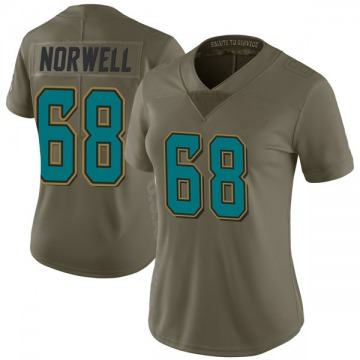 Women's Andrew Norwell Jacksonville Jaguars Limited Green 2017 Salute to Service Jersey