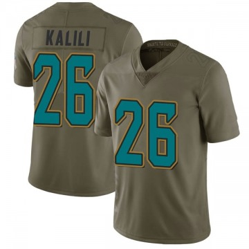 Youth Jocquez Kalili Jacksonville Jaguars Limited Green 2017 Salute to Service Jersey