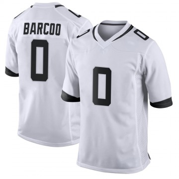 Youth Luq Barcoo Jacksonville Jaguars Game White Jersey