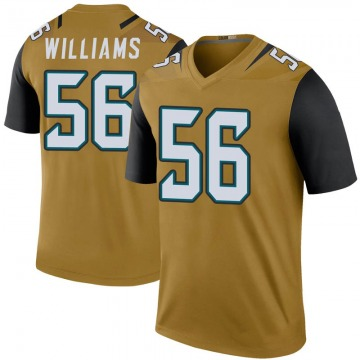 Youth Quincy Williams Jacksonville Jaguars Legend Gold Color Rush Bold Jersey